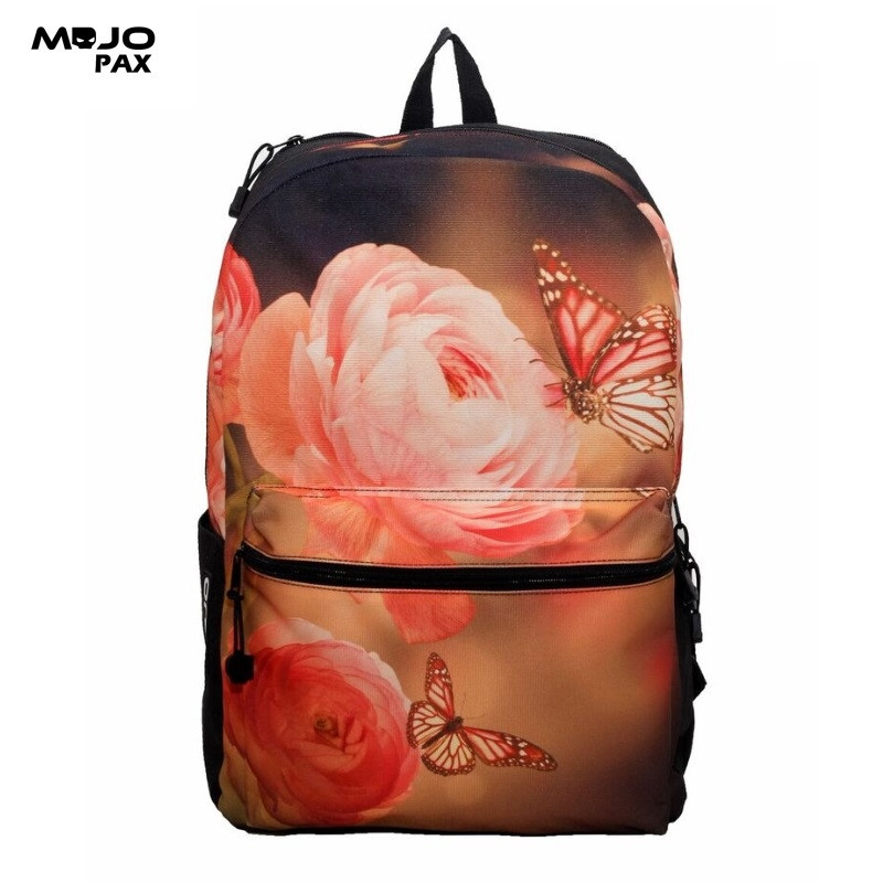 "a2bd3ad8534b Mojo ""Floral Butterfly"" Backpack (43x30x16cm)"