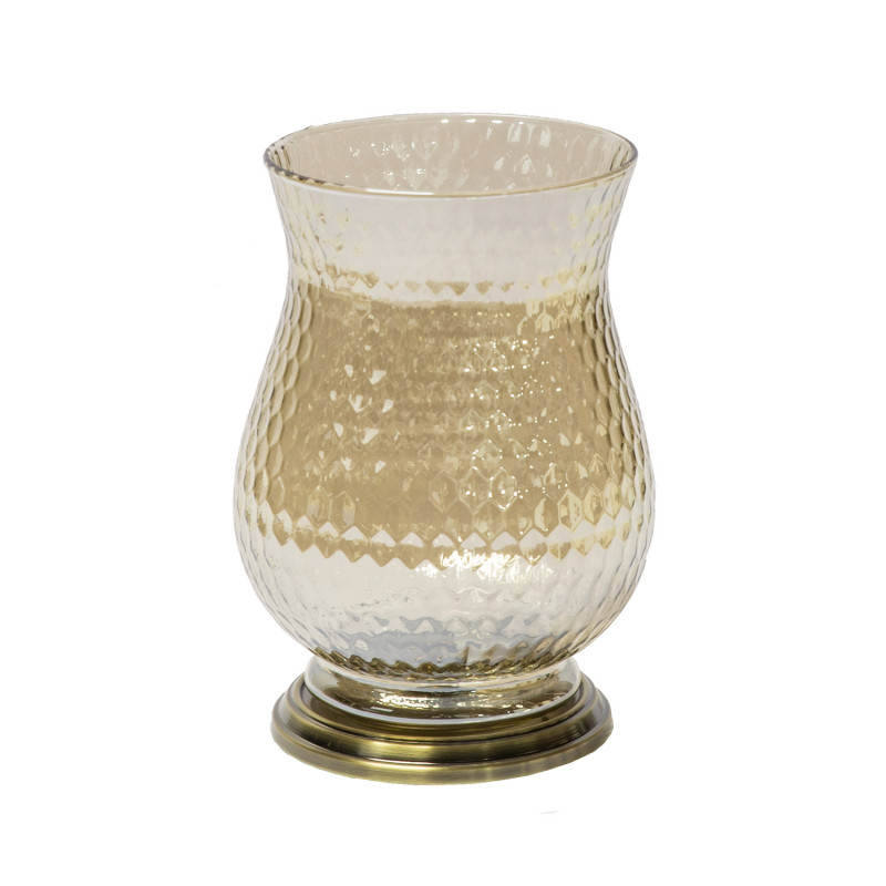 55a6676a916 Candle holder KAPPA, D16xH22cm, glas /antique gold - Candle holders ...
