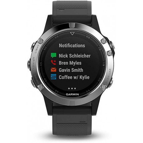Garmin Fenix 5 GPS, черный/серебряный