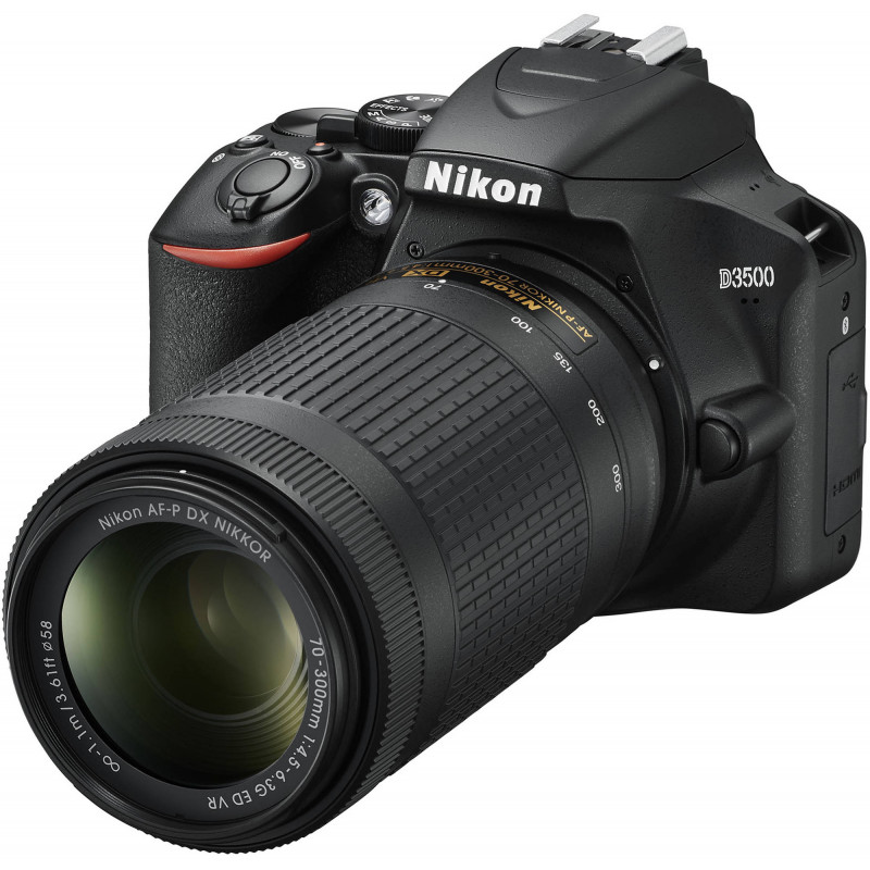 Nikon D3500 + 18-55mm AF-P + 70-300mm VR Kit, must