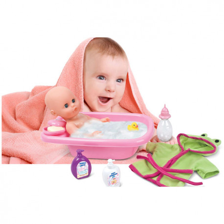bc9962c10eb BAMBOLINA baby doll 33cm with bathing set with bathtub, 1405
