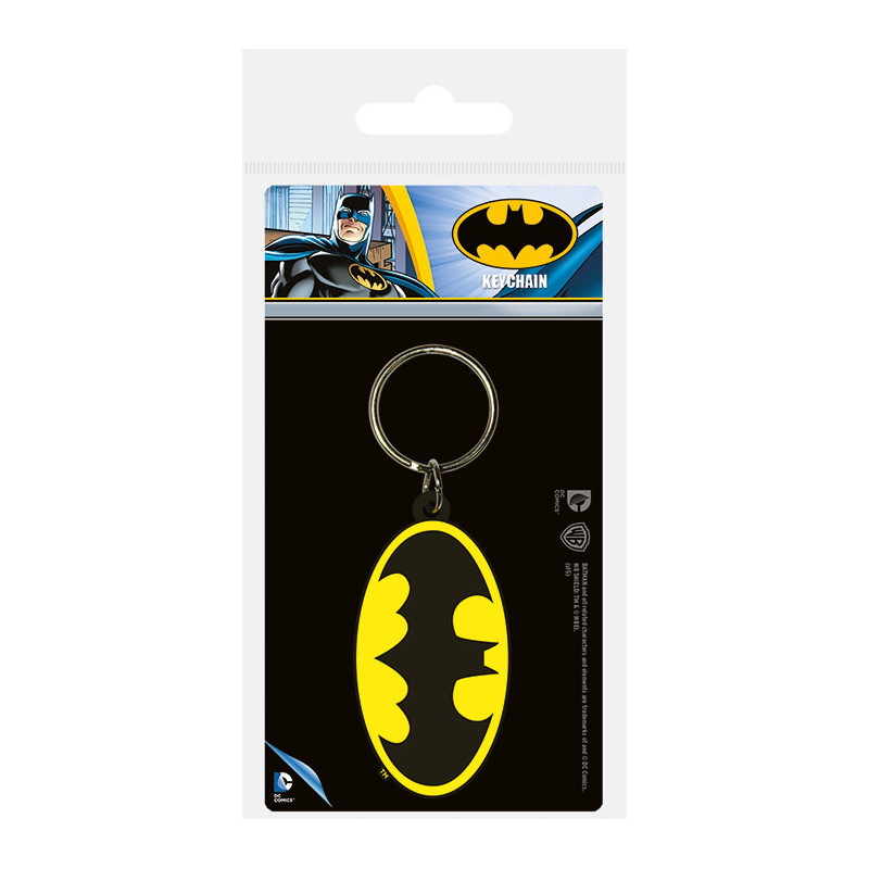 Dc Comics Batman Symbol Rubber Keychain Keyrings Photopoint