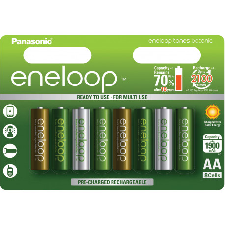 Panasonic eneloop akumulators AA 1900 8TE Botanic