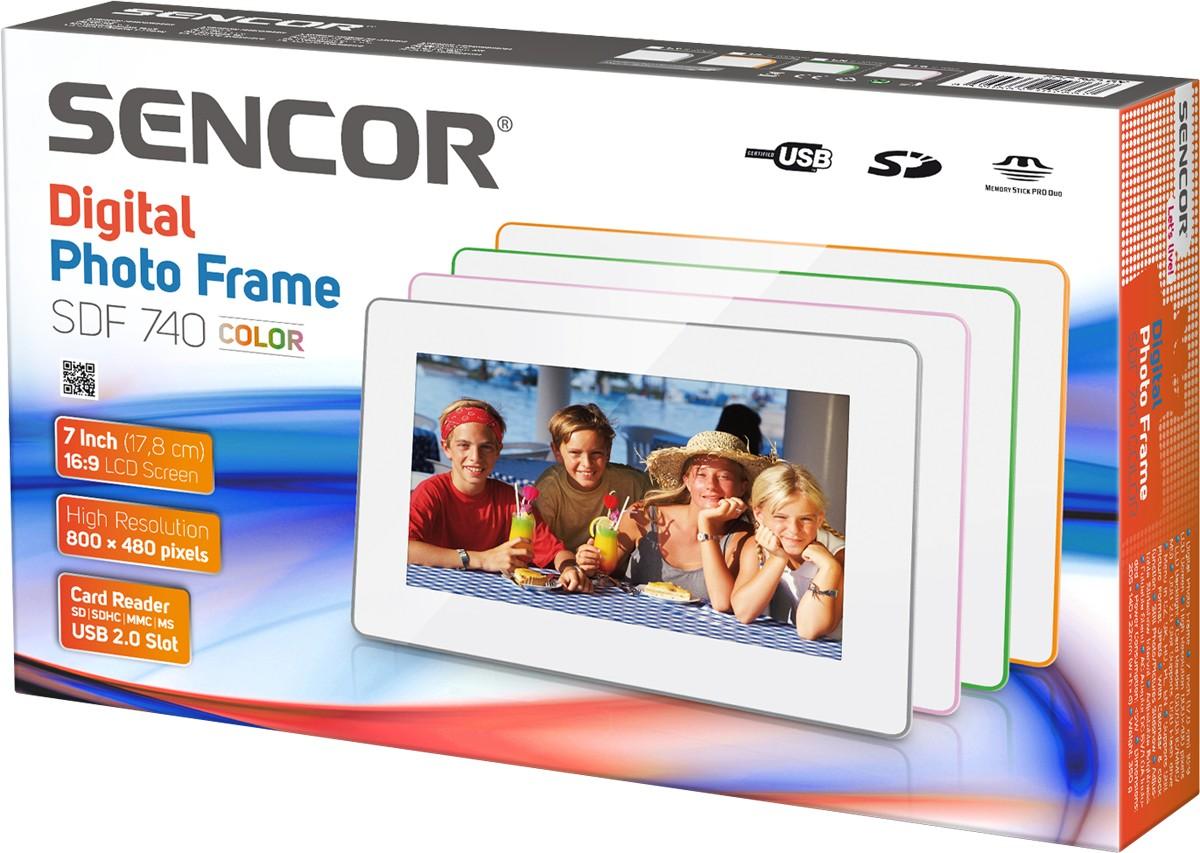 Sencor digitaalne pildiraam SDF 740 GY, valge/hal..