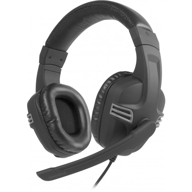 Speedlink kõrvaklapid + mikrofon Versico, must/hall (SL-870001-BKGY-01)