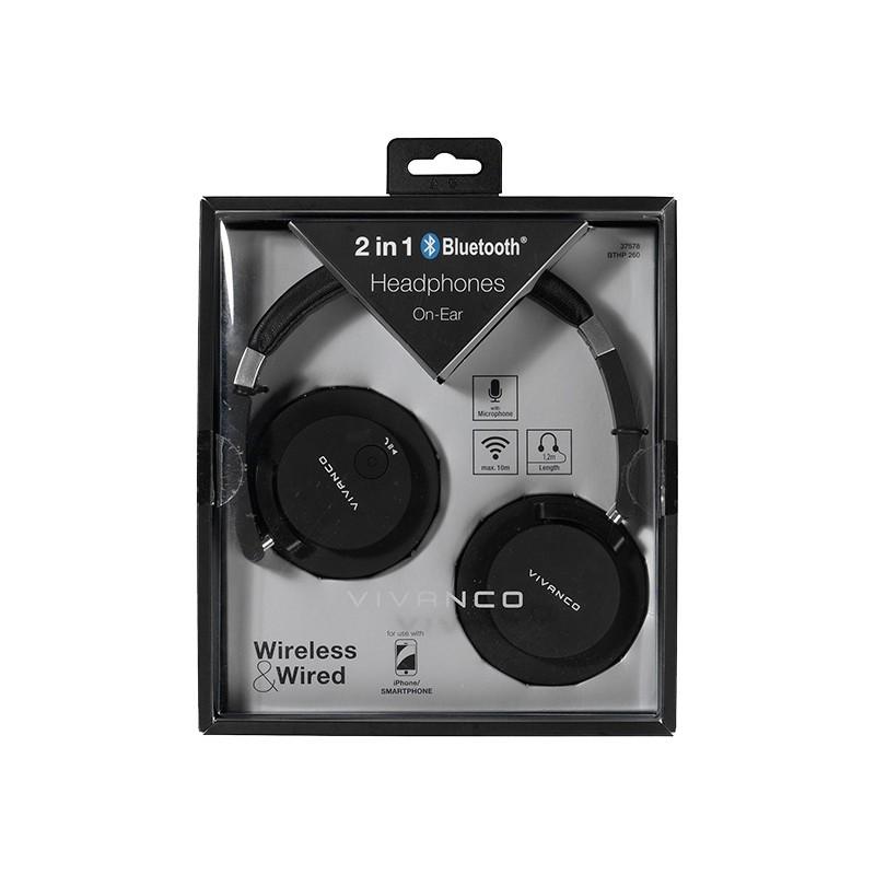 Vivanco kõrvaklapid + mikrofon BTHP260, must (37578)