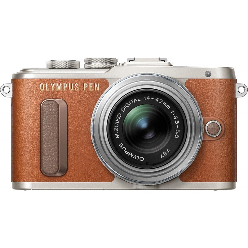 Olympus PEN Lite E-PL8 + 14-42 EZ Kit, brown/silver