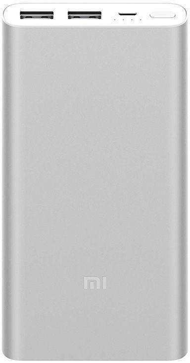 Xiaomi Mi akupank 2S 2.4A 2xUSB 10000mAh, hõbeda..