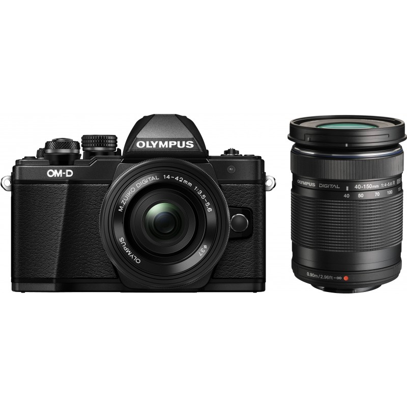 Olympus OM-D E-M10 Mark II + 14-42mm + 40-150mm Kit, must