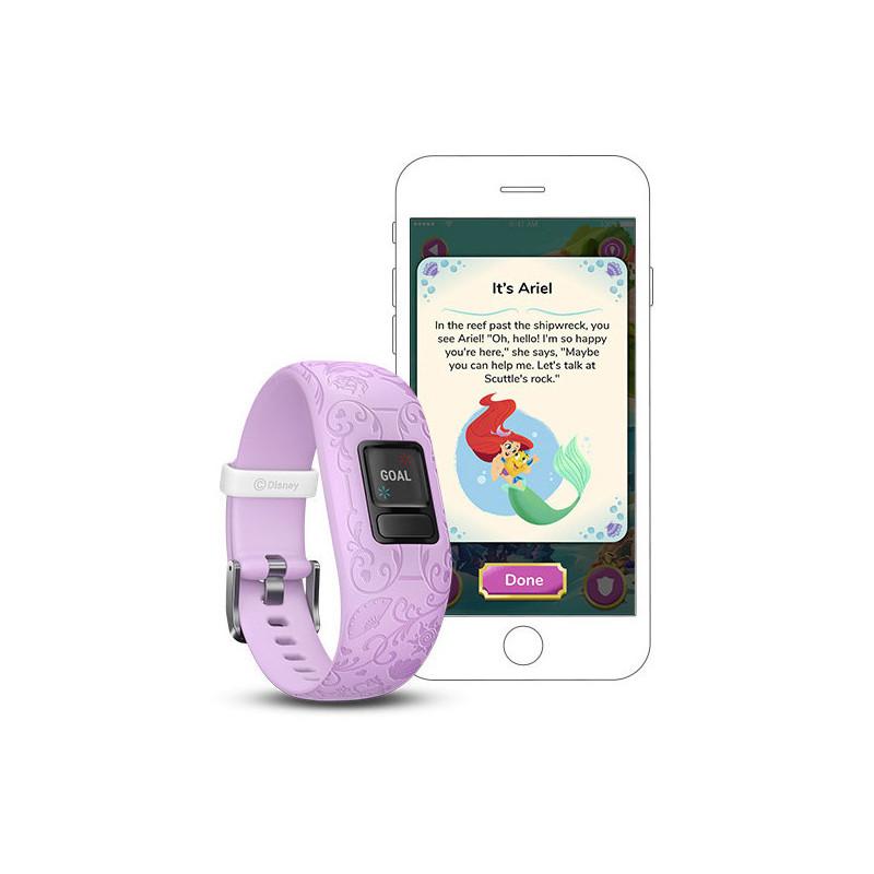 Garmin aktiivsusmonitor Vivofit Jr.2 Disney Princess, lilla reguleeritav