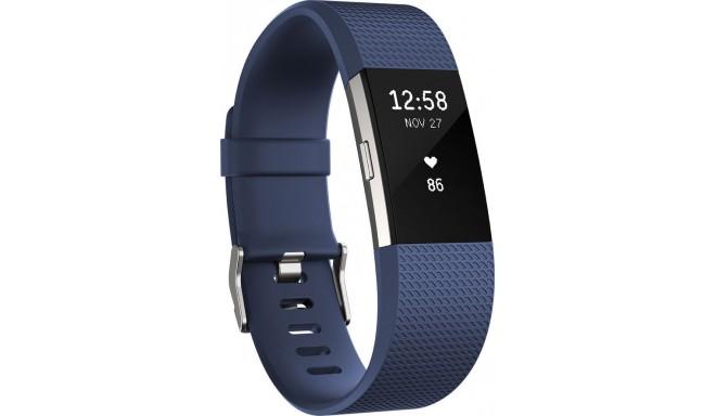 Fitbit aktiivsusmonitor Charge 2 S, sinine/hõbedane