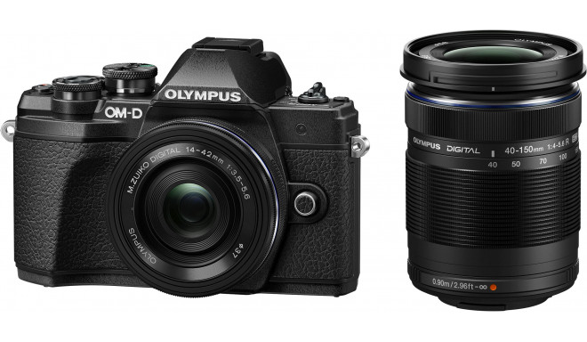 Olympus OM-D E-M10 Mark III + 14-42mm + 40-150mm Kit, must
