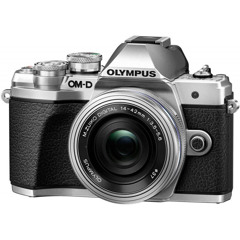Olympus OM-D E-M10 Mark III + 14-42mm + 40-150mm Kit, hõbedane