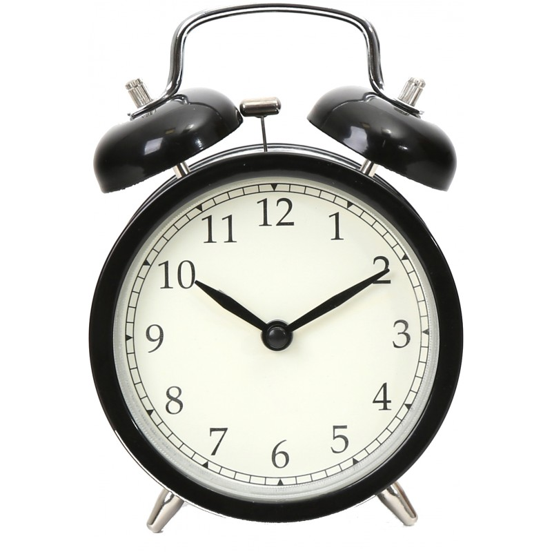 Platinet alarm clock March, black (43631)