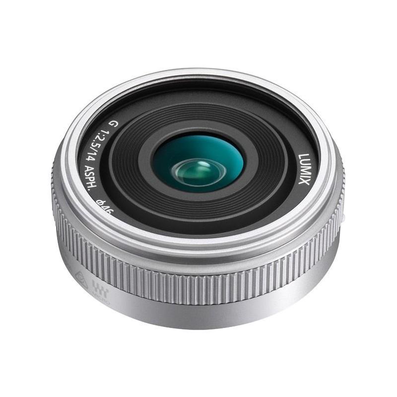 Panasonic Lumix G 14mm f/2.5 II ASPH. objektiiv, hõbedane