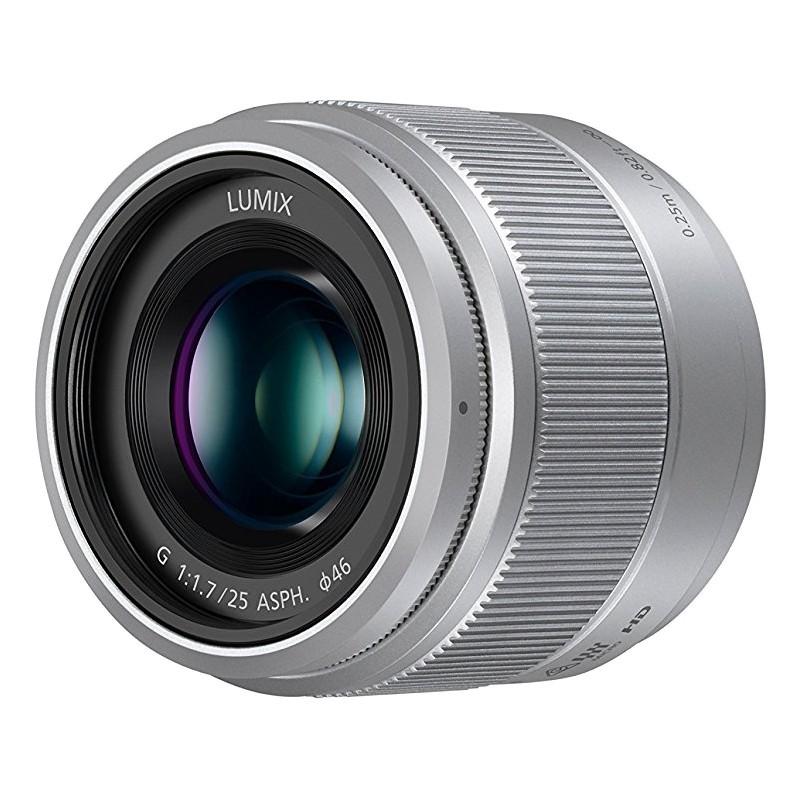 Panasonic Lumix G 25mm f/1.7 ASPH. objektiiv, hõbedane