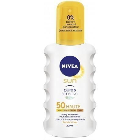 Nivea Sun spray Pure & Sensitive SPF 50 200ml - Sunscreen sprays - Photopoint