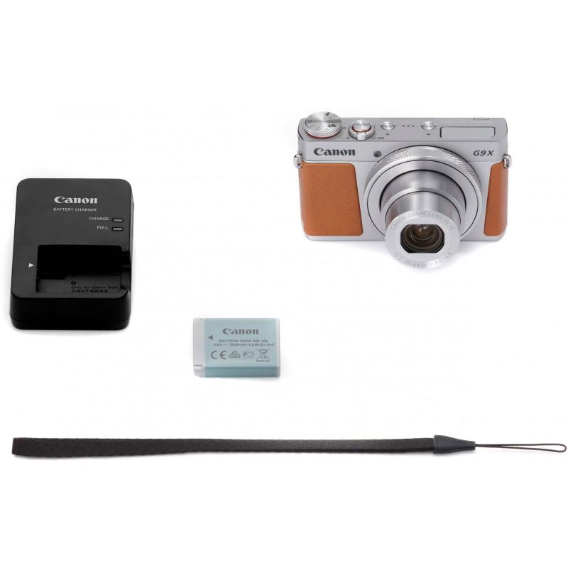 Canon Powershot G9 X Mark II, hõbedane