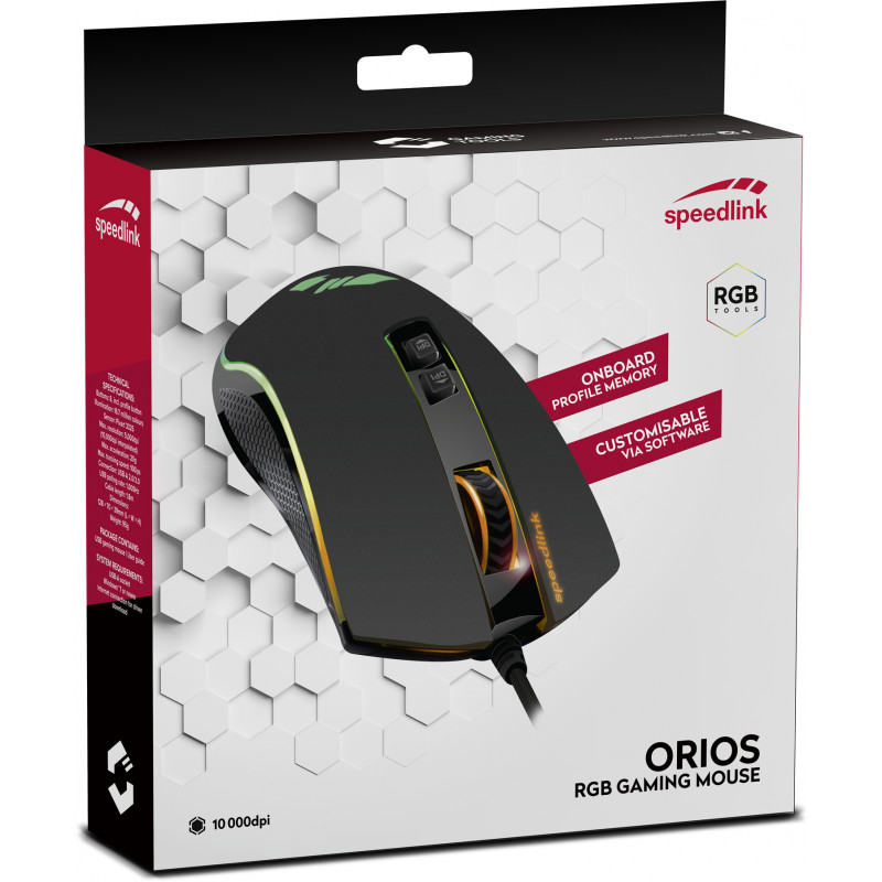 Мышка Speedlink Orios RGB (SL-680010-BK)