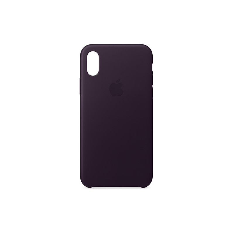 sports shoes d1546 6ae3e Apple iPhone X Leather Case, dark aubergine