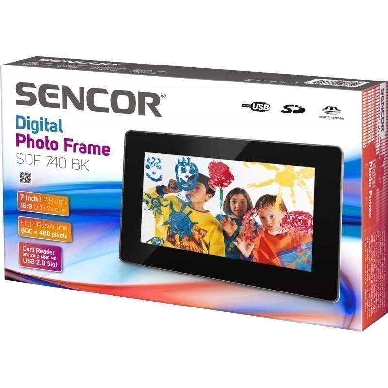Sencor digital photo frame SDF 740 BK, black