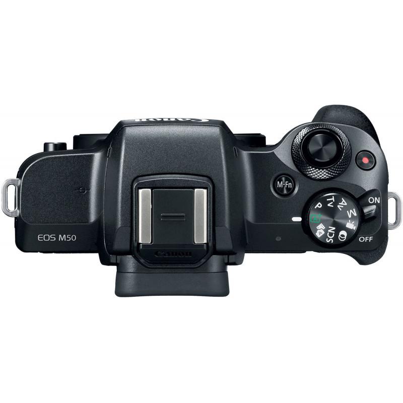 Canon EOS M50 + Tamron 18-200mm VC, black