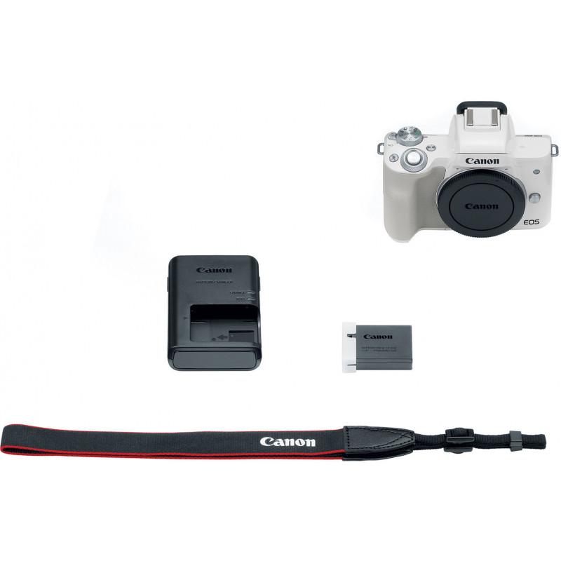 Canon EOS M50 + Tamron 18-200mm VC, valge/hõbedane