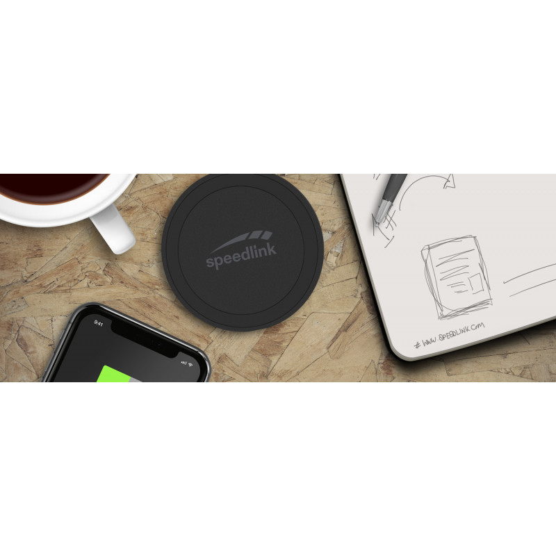 Speedlink wireless charger Puck 10, black (SL-690403-BK)