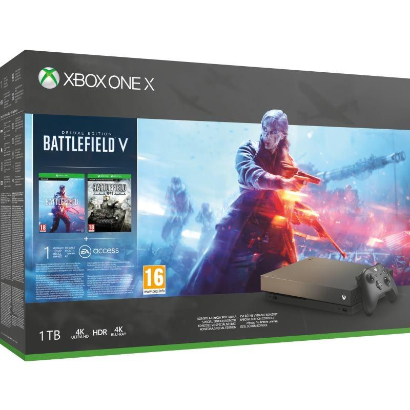 Microsoft Xbox One X 1TB black + Battlefield