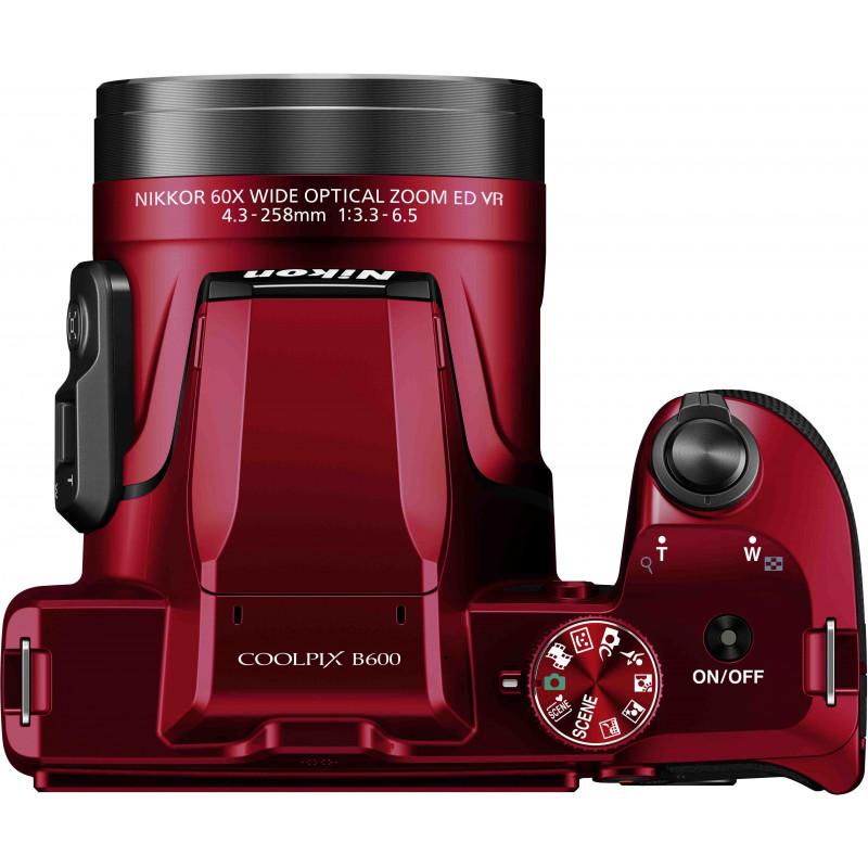 Nikon Coolpix B600, punane