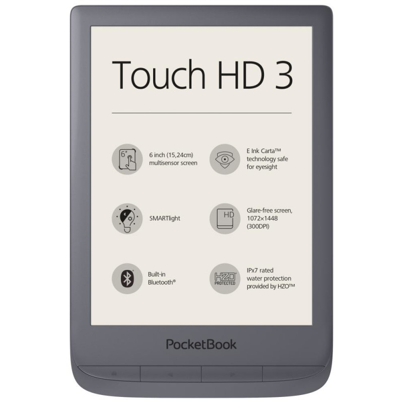 "READER INK 6"" 16GB TOUCH HD3/GREY PB632-J-WW POCKET BOOK"