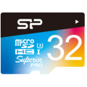 Silicon Power mälukaart microSDHC 32GB Superior Pro Color U3 + adapter