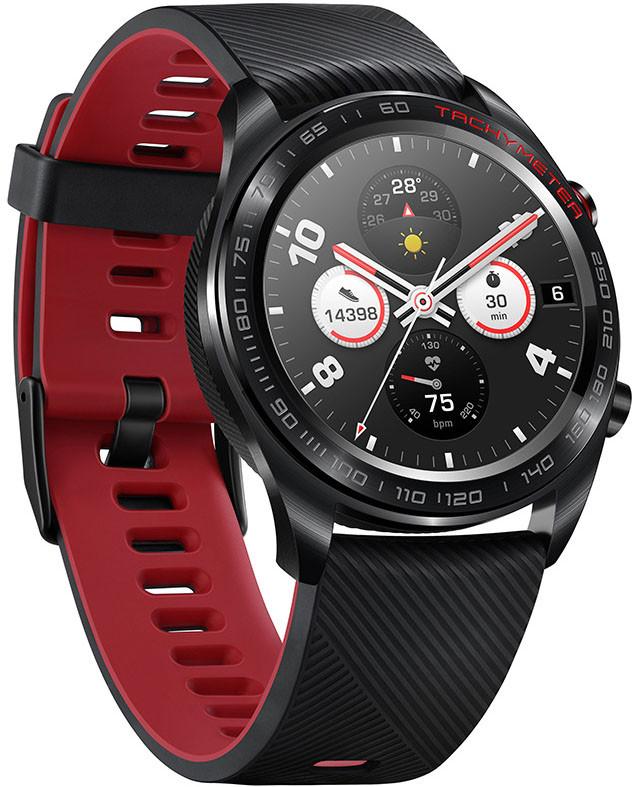 Huawei Honor Watch Magic, must/punane