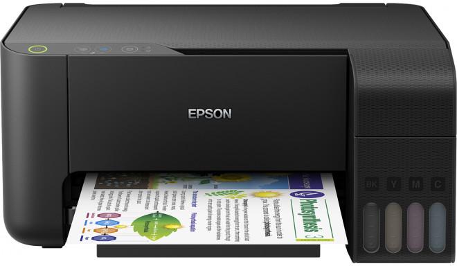 Струный принтер Epson EcoTank L3110 3в1, черный