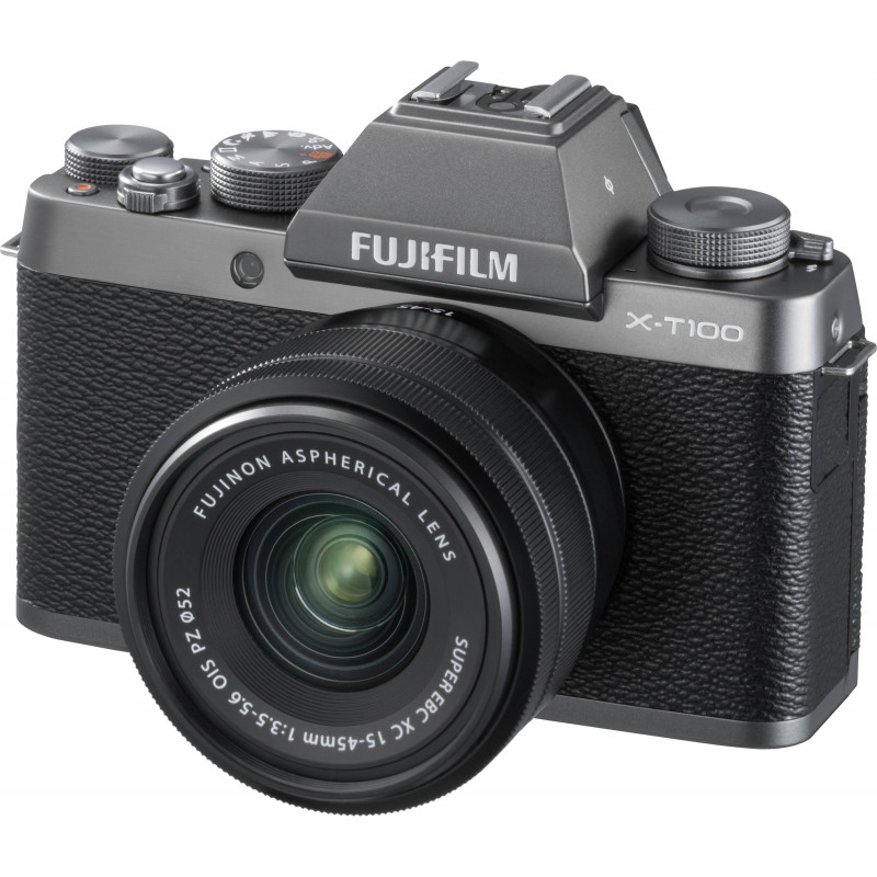 Fujifilm X-T100 + 15-45mm + 50-230mm Kit, dark silver