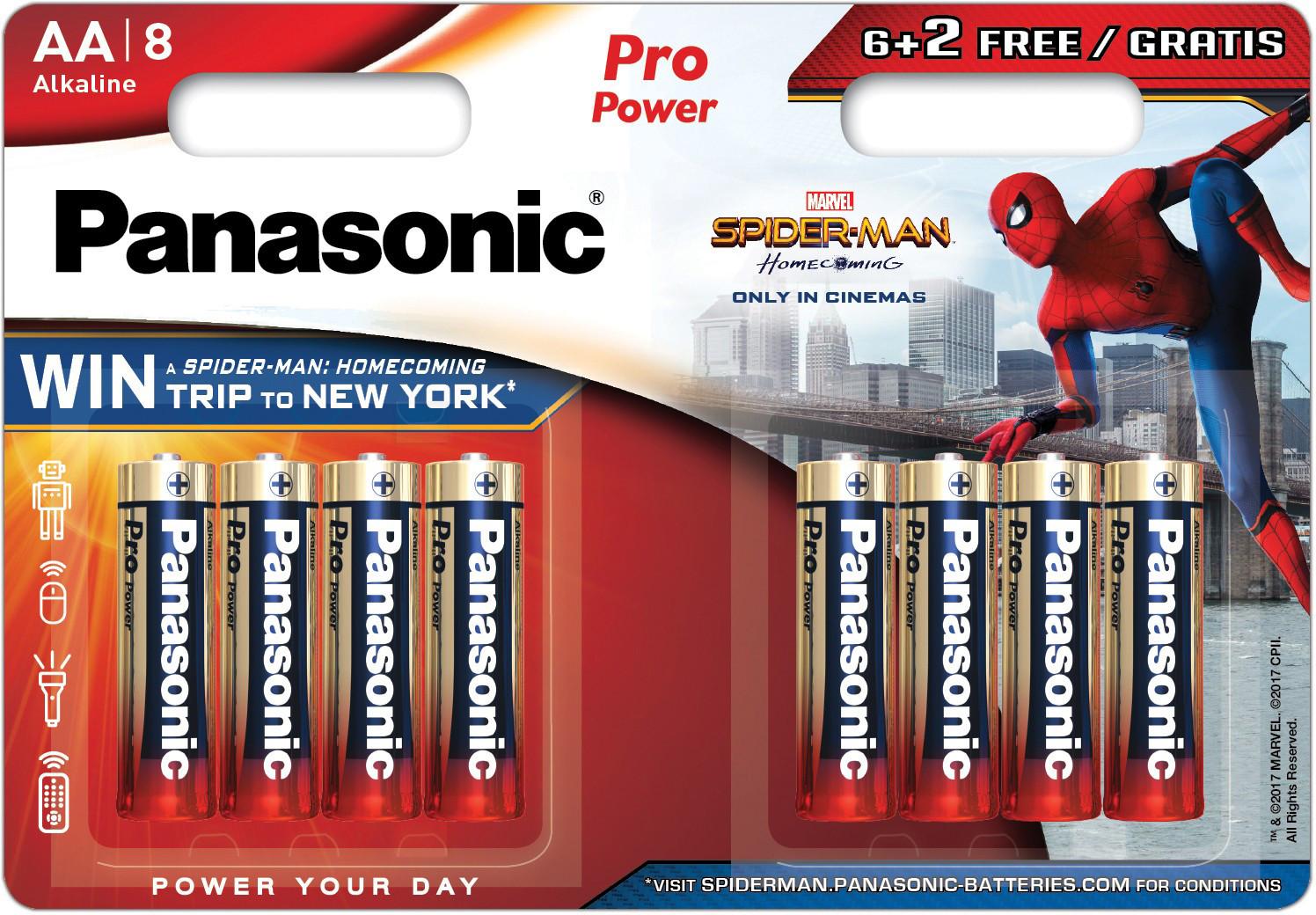 Panasonic Pro Power patarei LR6PPG/8B (6+2) S-M