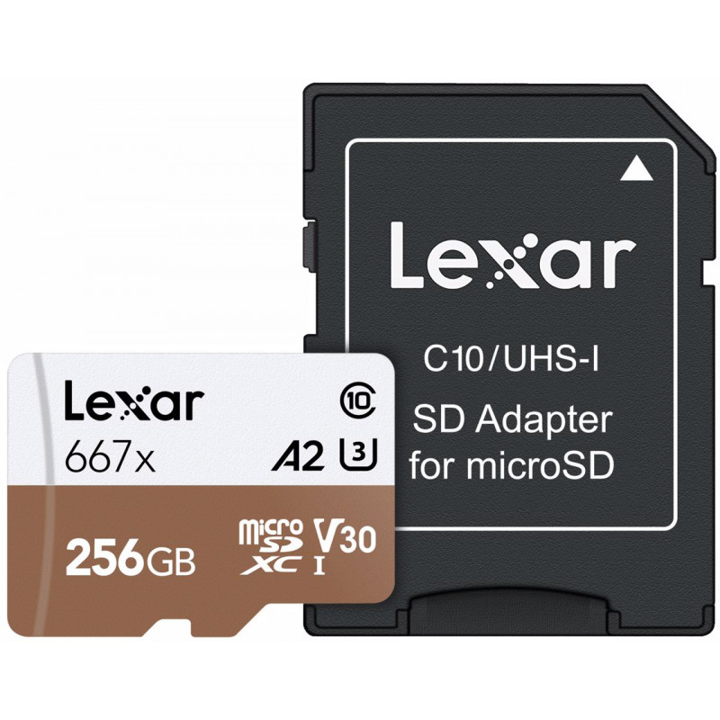 Lexar memory card microSDXC 256GB Pro 667x U3 V30 + adapter