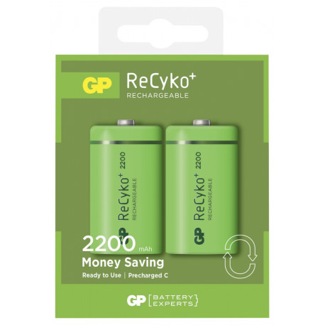 0b821f1e66d 1x2 GP ReCyko+ NiMH rechargeable 2200mAH Baby C ready to use