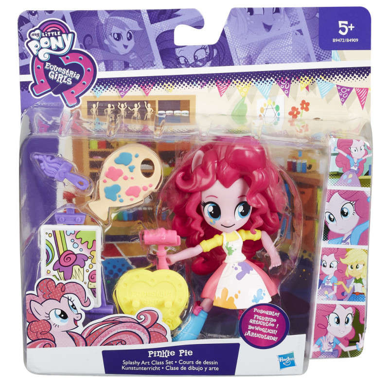 d39a0053add MY LITTLE PONY Mini ponitüdrukud lisadega b9472 Pinkie Pie Splashy Art  Class set - Toy figures - Photopoint.lv