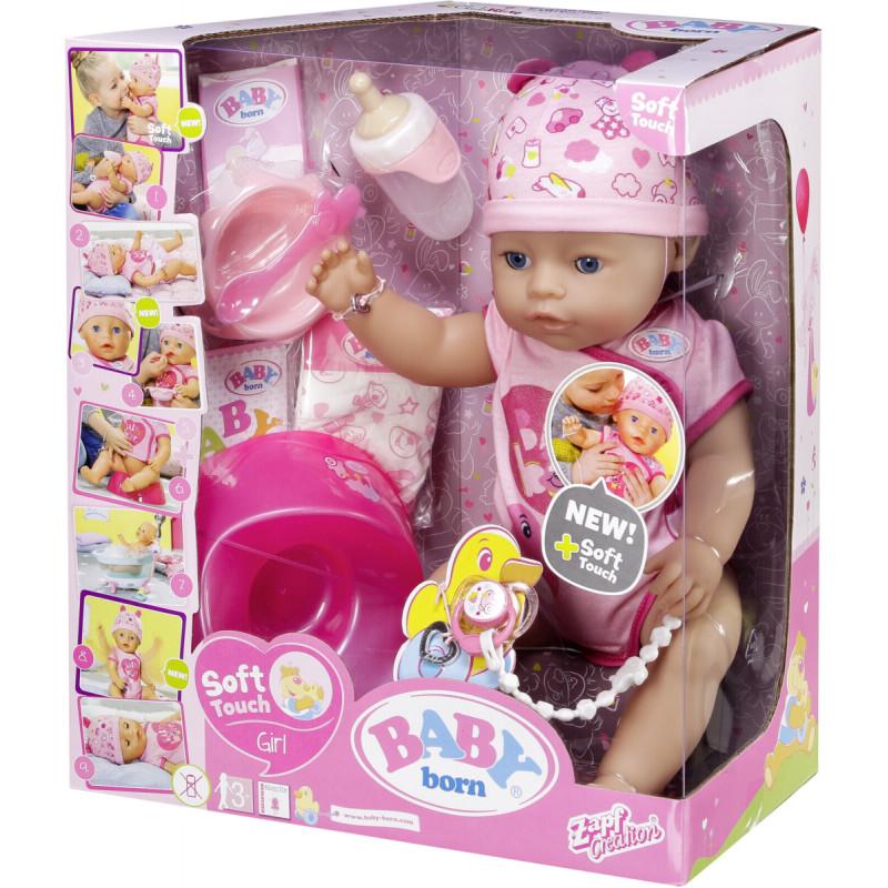 d3714f5ea17 Zapf nukk Baby Born Soft Touch Girl Blue Eyes - Nukud - Photopoint