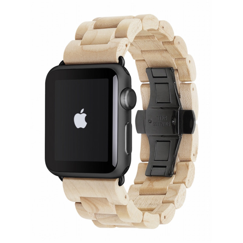 woodcessories 42mm  Woodcessories EcoStrap Apple Watch Band 42mm, maple black ...