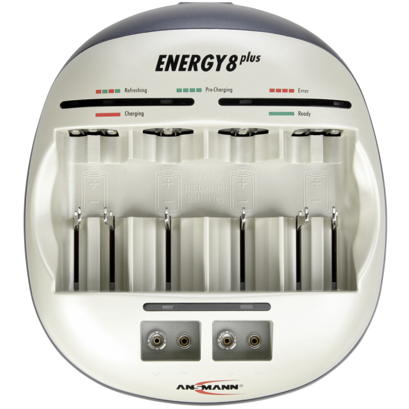 Ansmann Energy 8 plus Set incl. 1x4 maxE NiMH Akku AA 1900 mAh