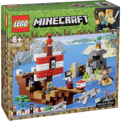 af9ce7f89a1 LEGO Minecraft 21152 The Pirate Ship