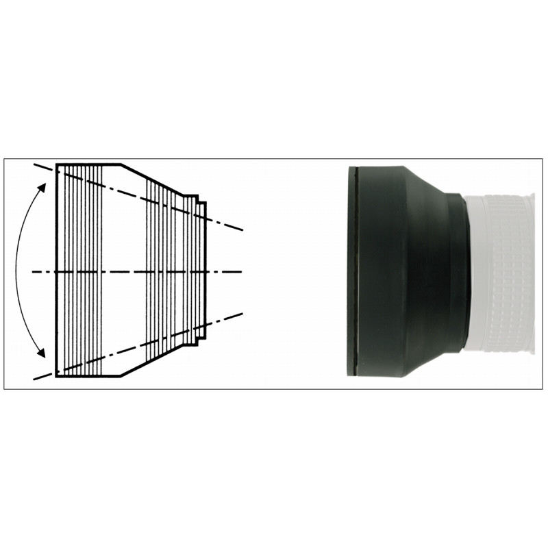 Kaiser lens hood 3in1 49mm