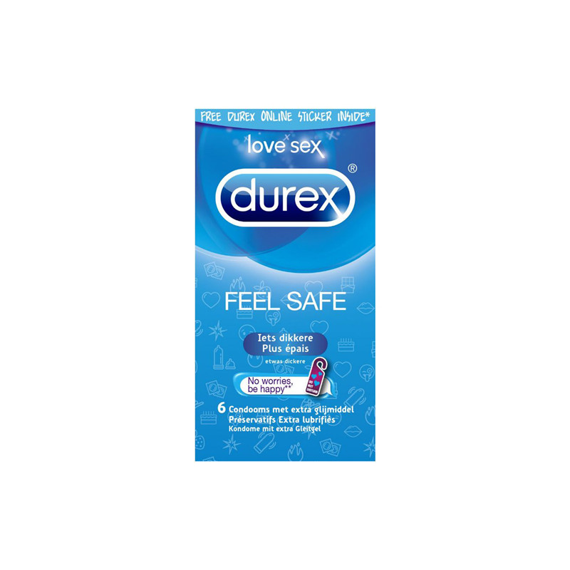 6da23de5a71 Durex Feel Safe - 6 Pieces - Kondoomid - Photopoint
