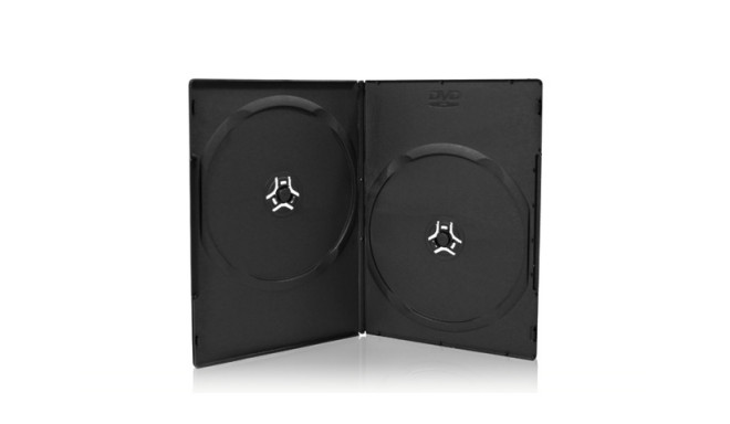 DVD DOUBLE CASE (14MM) BLACK (100 SZT) (321.14A)