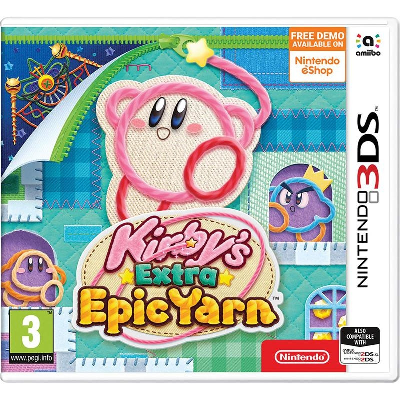 3DS mäng Kirby's Extra Epic Yarn
