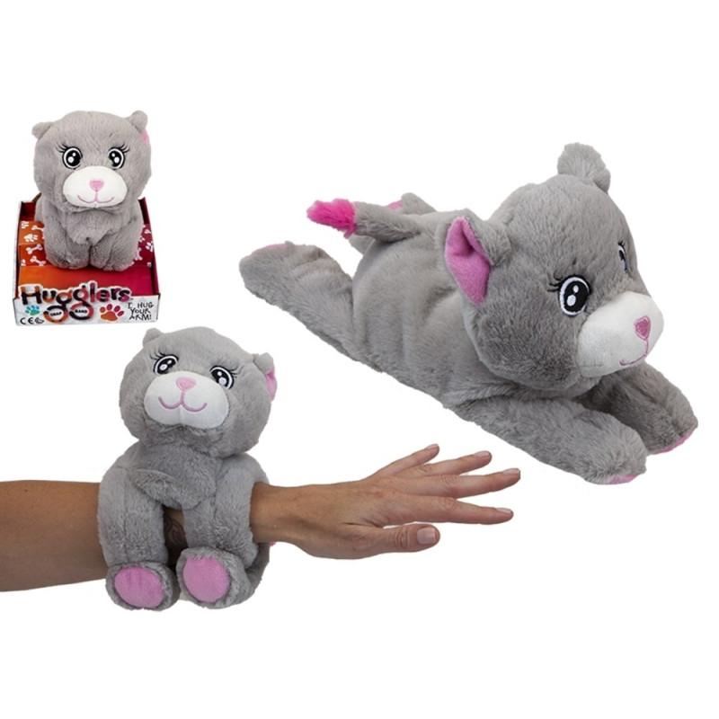28 cm Hugglers Snap Band Plush On Tray Box Cat