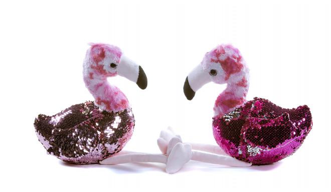 23 cm Sequin Flamingo - random style