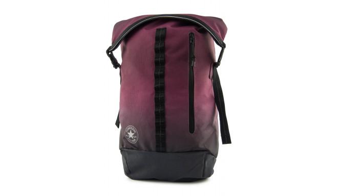 Converse burgundy gradient rolltop backpack